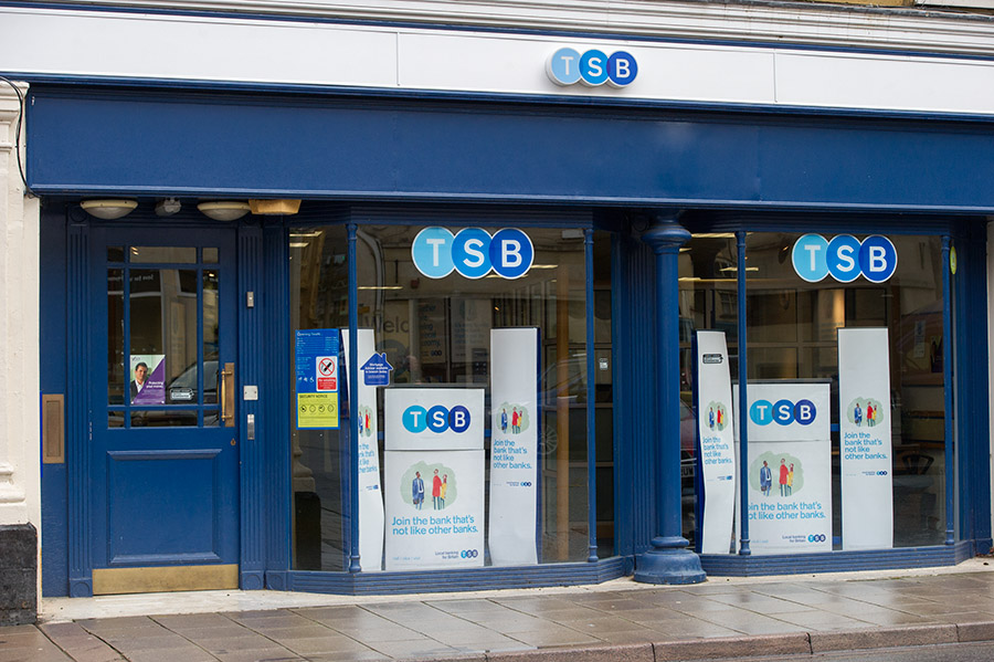 The TSB Bank branch in Cirencester, Gloucestershire. Credit: Professional Images/@ProfImages
